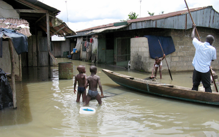 Flooded Sagbama community in Bayelsa state Photo: NAN