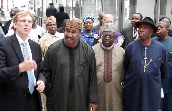 A cross-section of Nigeria governors on a visit to Germany in September 2012