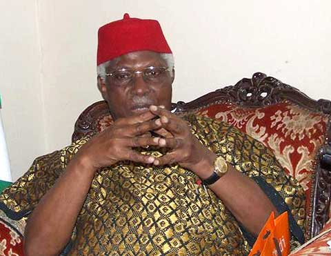 "Kanu Agabi: ""Alex Ekwueme (pictured above)  is man who keeps his word, a man of excellence, a pre-eminent Nigerian, a man of character and discipline"""