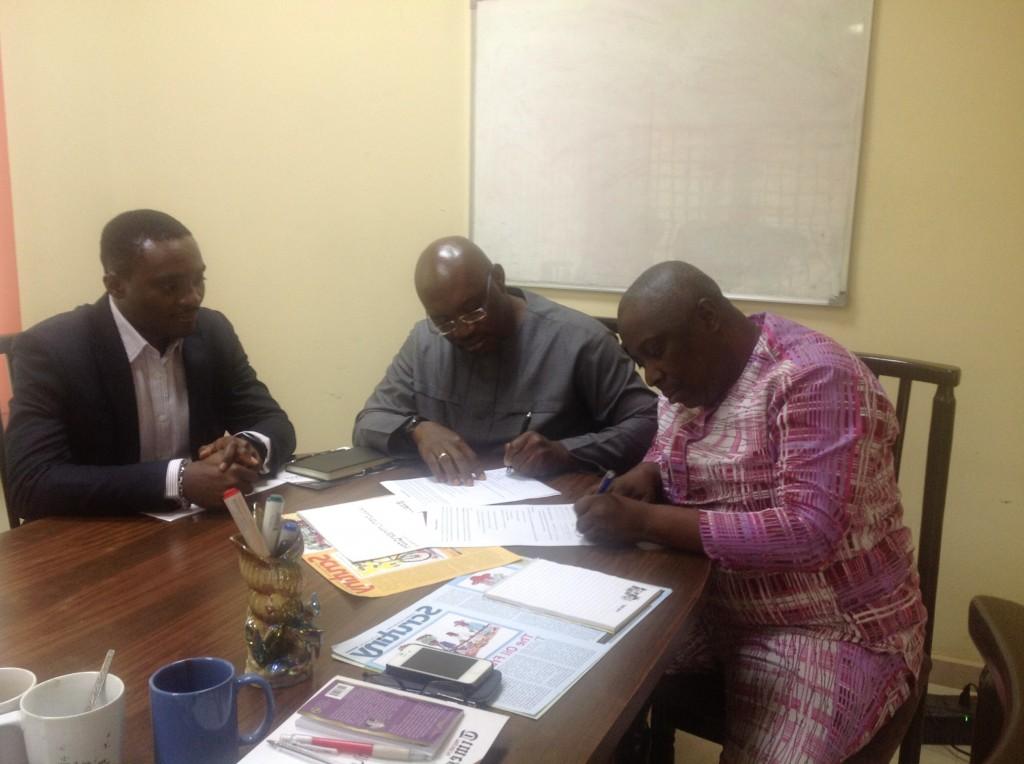 Signing of MOU