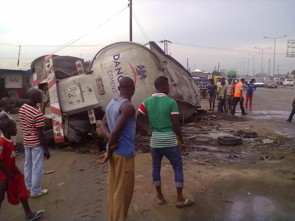 cement truck killed student eleyele ibadan
