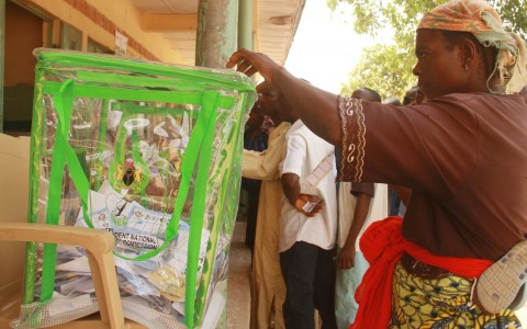 Voters casting their vote 3 480x300 - Establish election offences tribunal before 2015 elections, Jega tells Nigerian govt.