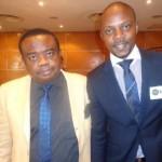 Coson's boss, Tony Okoroje with Akinyemi Ayinoluwa. a writer
