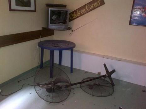 The children corner at the hospital also suffered ... Photo: Yakubu Gana