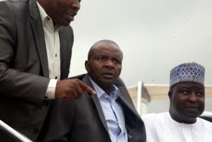 Danbaba Suntai arriving Abuja