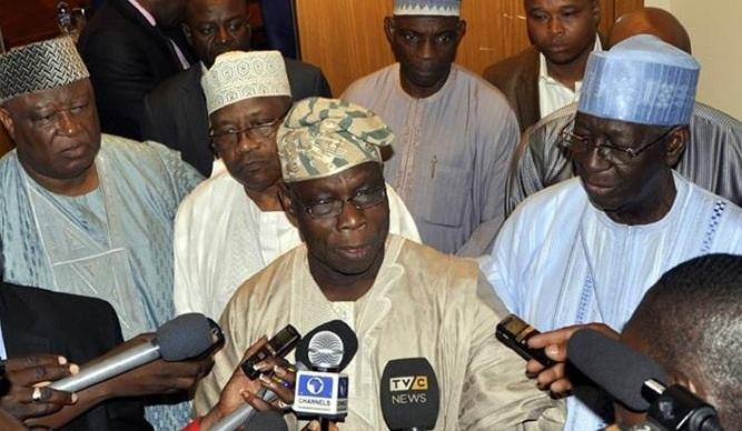 Image result for Obasanjo and PDP