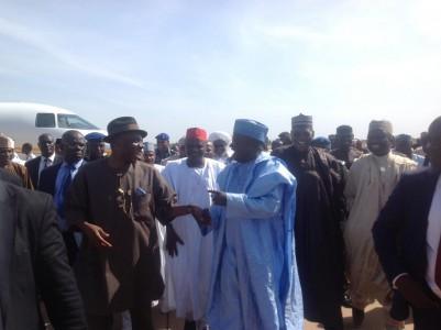 Amaechi group Sokoto 401x300 - Buhari, Atiku, Tinubu, others storm Sokoto for State Varsity inauguration
