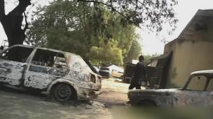 FILE PHOTO: Scene of Boko Haram attack in Nigeria