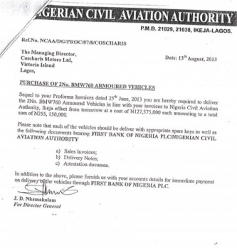 """NCAA BMW 1 333x349 - Aviation officials claim N255 million ministerial car scandal is """"all rumours"""""""