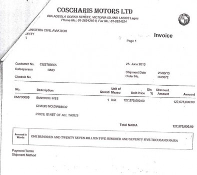 """NCAA BMW Page 10 394x349 - Aviation officials claim N255 million ministerial car scandal is """"all rumours"""""""