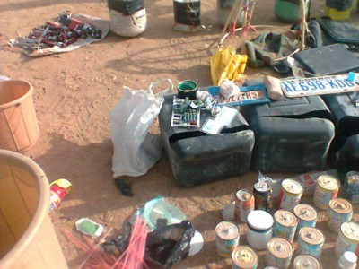 PIC.16. ITEMS RECOVERED BY THE JTF DURING A RAID ON SUSPECTED BOKO HARAM MEMBERS HIDE OUT IN KANO 1 400x300 - Boko Haram: JTF, SSS discover high calibre bomb factory in Kano
