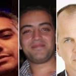Imprisoned Al Jazeera journalists. L-R: Mohamed Fahmy, Baher Mohamed  and Peter Greste