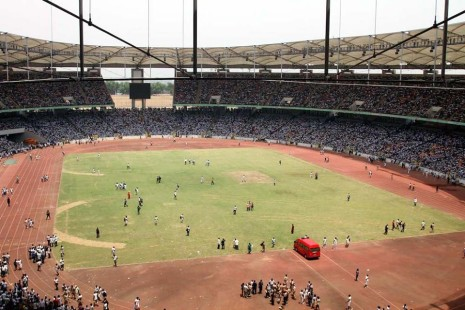 Abuja National Stadium filled to capacity for the recruitment test