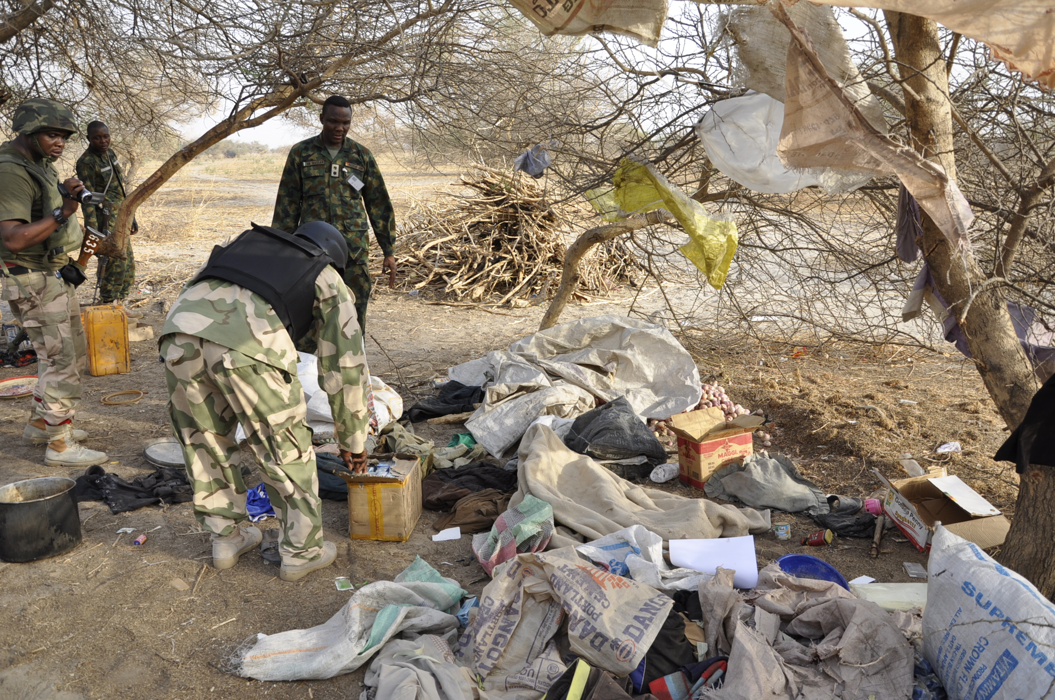 Insurgents camp destroyed by troops of 212 in Marte recntly (1)