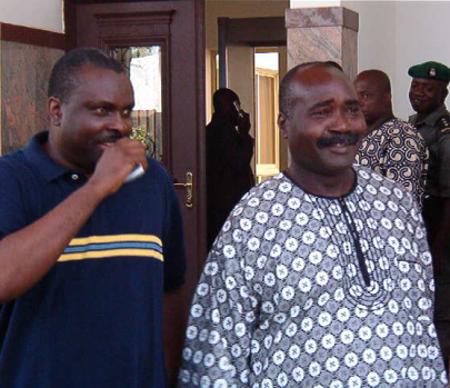 Two of a kind: James Ibori (left), Lucky Igbinedion (right). Both are confirmed thieves.