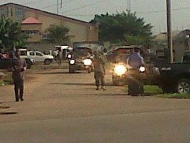 Police detonated two bombs at Winners Chapel, Port Harcourt Road, Owerri.... Photo Credit: Onumara Onyekachi