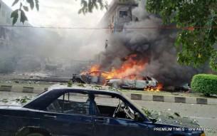 FILE PHOTO: Scene of a bomb blast in Abuja on June 25, 2014