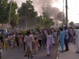Protesters take over kano streets to protest appointment of Sanusi Lamido Sanusi as the new Emir of Kano