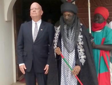us ambassador -The two men had a closed-door meeting.