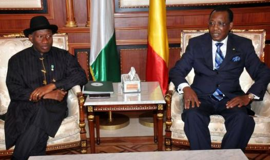 President Jonathan & President Deby during a bilateral meeting in Ndjamena, Chad