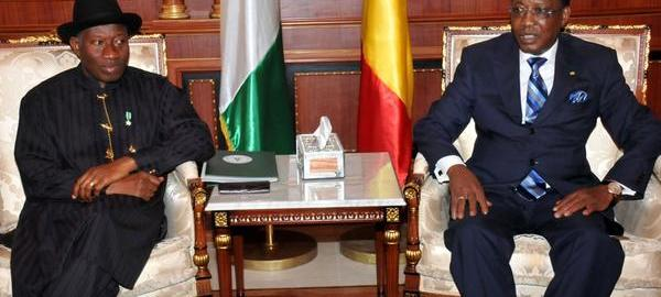 President Jonathan & President Deby during a bilateral meeting in Ndjamena, Chad