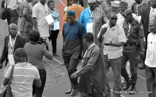 Fayemi on inspection of facilities at Teslim Balogun