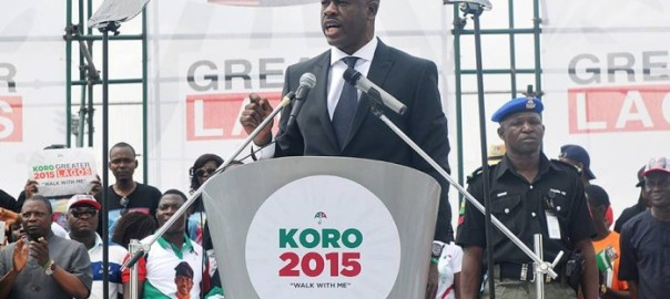 FILE PHOTO: Musiliu Obanikoro at the Lagos PDP governorship primaries rally