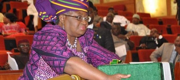 FILE PHOTO: Finance minister, Ngozi Okonjo-Iweala laying the budget before National Assembly Lawmakers