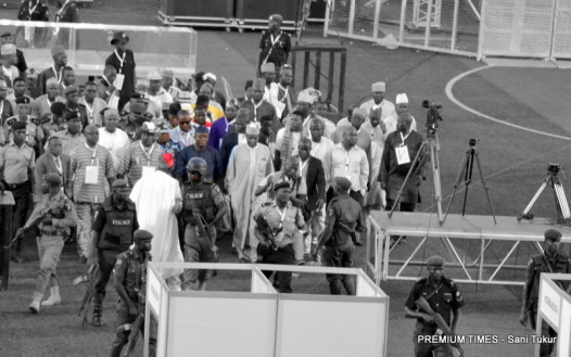 apc presidential primaries - fayemi walks in
