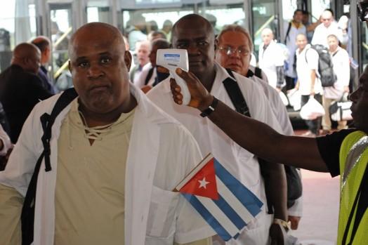 Cuban Health Workers arriving Monrovia, Liberia - The Wall Street Journal