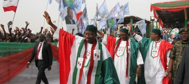 FILE PHOTO: Goodluck Jonathan campaigns for  reelection in Katsina