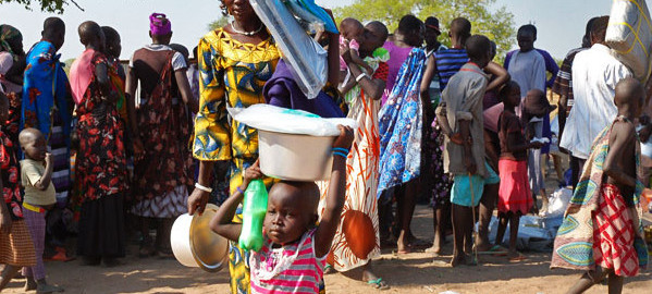 Mother and child in an Internally Displaced People's camp Yola, Adamawa state.
