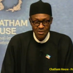 Muhammadu Buhari speaking at Chatham House