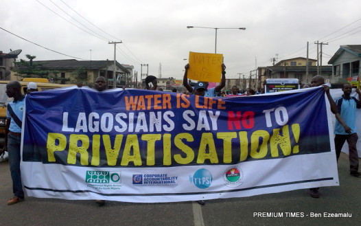 FILE PHOTO: abour, civil societies march against Lagos Govt's plan to privatize state-owned water supply