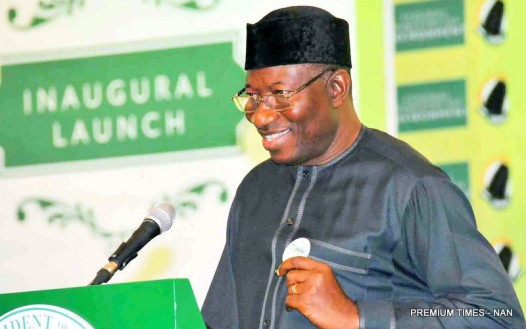 FILE PHOTO: President Goodluck Jonathan, Launching the Growing Girls and Women in Nigeria (G-Win) in Abuja