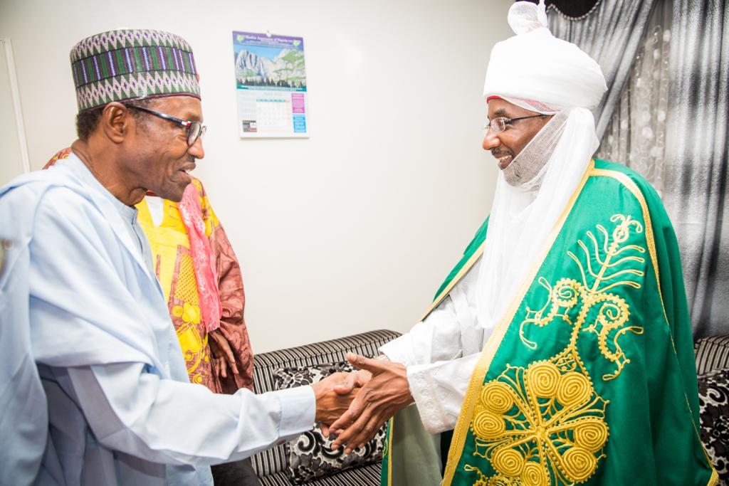 FILE PHOTO: President Muhammadu Buhri and Emir of Kano, Sanusi Lamido Sanusi
