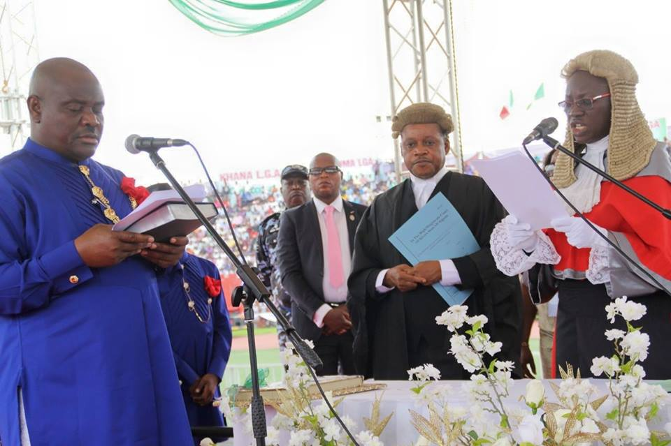 Wike swearing in