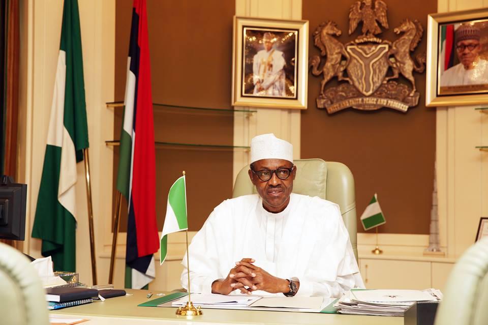 Billedresultat for president buhari in office