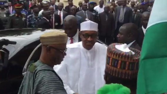 Buhari arrives