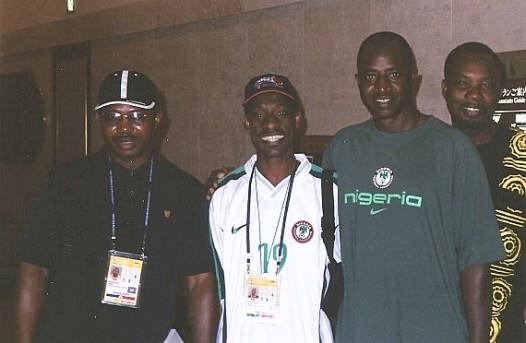 Waheed Jinadu with Segun Odegbami & others at the 2002  Korea-Japan World Cup_edit