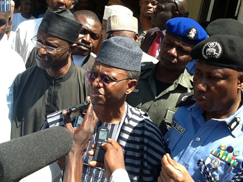 Image result for El-Rufai hosts security personnel