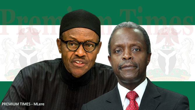 Image result for pictures of buhari and osinbajo