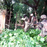 FILE PHOTO: NIGERIAN ARMY TROOPS CLEARING BOKO HARAM ENCLAVES ALONG AXIS   Nigerian Army troops clearing Boko Haram enclaves along Bitta to Tokumbere, Sambisa Forest, Borno state