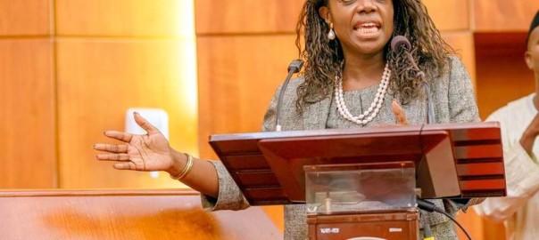 Mrs. Kemi Adeosun at the Ministerial screening