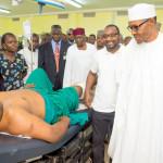 Buhari visits survivors of Abuja bomb explosions