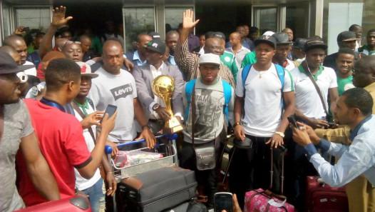 Dream Team VI on their arrival from Senegal