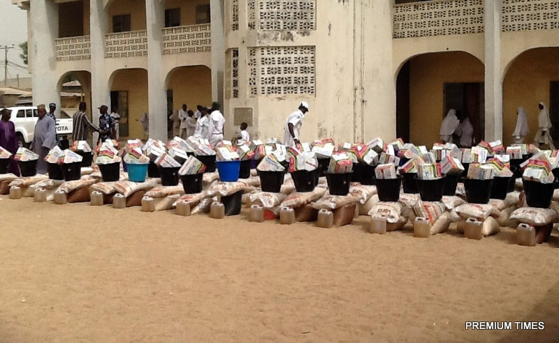 Food for IDPs at Jamatul Nasril Islam in Yola