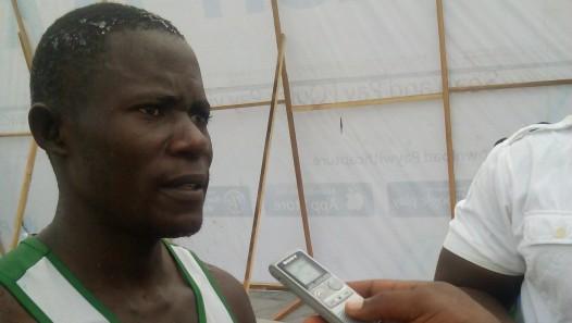 Philip Sharubutu , the first Nigerian to finish