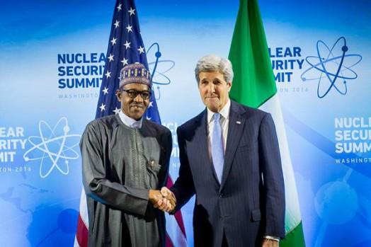 President Muhammadu Buhari and U.S. Secretary of State, John Kerry