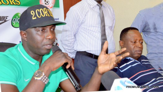 PIC. 22. SIASIA UNVEILS SUPER EAGLES' SQUAD FOR EGYPT IN ABUJA